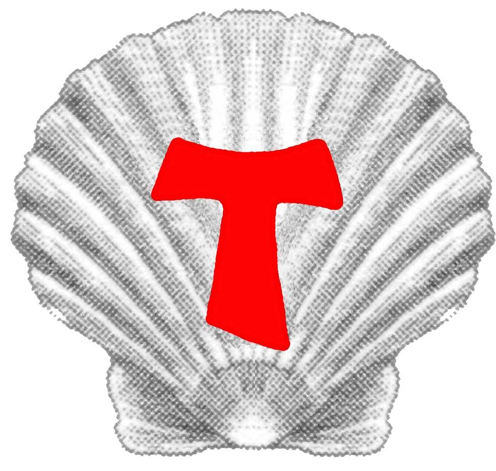 Simbolo ufficiale: la conchiglia con il tau rosso al centro