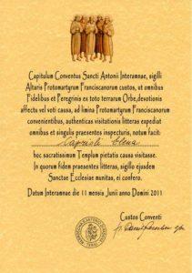 Testimonium 2011 Cammino Protomartiri
